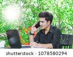 a businessman work in coffee... | Shutterstock . vector #1078580294