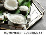 ingredients for natural body...   Shutterstock . vector #1078582355