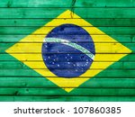 the brazilian flag painted on... | Shutterstock . vector #107860385
