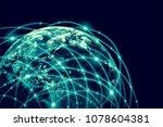 earth from space. best internet ...   Shutterstock . vector #1078604381