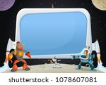 astronaut cartoon children...   Shutterstock .eps vector #1078607081
