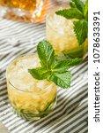 homemade derby mint julep with...   Shutterstock . vector #1078633391