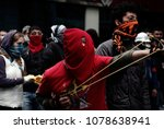 protesters clashed with riot... | Shutterstock . vector #1078638941