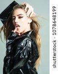 lady sexy in slicker or... | Shutterstock . vector #1078648199