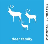 deer family icon isolated on... | Shutterstock .eps vector #1078655411