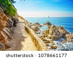 view of the sea coast in lloret ... | Shutterstock . vector #1078661177