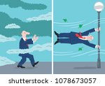 two pictures of a man walking... | Shutterstock .eps vector #1078673057