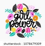 girl power   handdrawn... | Shutterstock .eps vector #1078679309