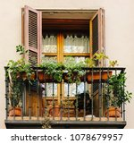Cute And Bohemian Old Balcony...