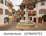 gemsberg fountain and colourful ... | Shutterstock . vector #1078693751