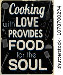 cooking with love provides food ... | Shutterstock .eps vector #1078700294