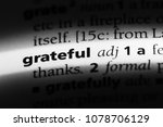 grateful word in a dictionary.... | Shutterstock . vector #1078706129
