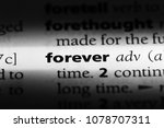forever word in a dictionary.... | Shutterstock . vector #1078707311