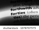 forties word in a dictionary.... | Shutterstock . vector #1078707575