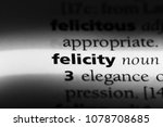 Small photo of felicity word in a dictionary. felicity concept