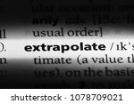 Small photo of extrapolate word in a dictionary. extrapolate concept