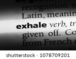 Small photo of exhale word in a dictionary. exhale concept