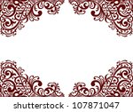 vector vintage baroque border... | Shutterstock .eps vector #107871047