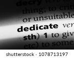 dedicate word in a dictionary.... | Shutterstock . vector #1078713197
