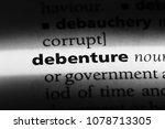 Small photo of debenture word in a dictionary. debenture concept