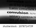 Small photo of convulsion word in a dictionary. convulsion concept