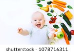 healthy child nutrition  food... | Shutterstock . vector #1078716311