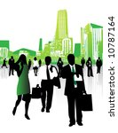 business people and city | Shutterstock .eps vector #10787164