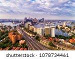 warringah freeway with sydney...   Shutterstock . vector #1078734461