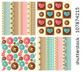 craft seamless pattern | Shutterstock .eps vector #107874215