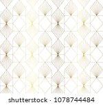 gold geometric pattern vector.... | Shutterstock .eps vector #1078744484