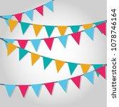 festival frame design | Shutterstock .eps vector #1078746164