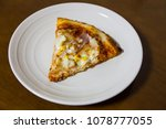 slice of fresh pizza with...   Shutterstock . vector #1078777055
