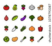 color line icon set of... | Shutterstock .eps vector #1078793387