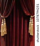 texture of velvet fabric. red...   Shutterstock . vector #1078794251