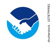 handshake circle symbol logo... | Shutterstock .eps vector #1078799981