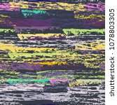 grunge stripes chalk vector... | Shutterstock .eps vector #1078803305