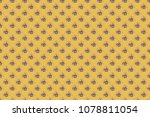 seamless floral pattern with... | Shutterstock . vector #1078811054