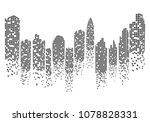 city skyline background vector... | Shutterstock .eps vector #1078828331