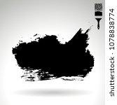 black brush stroke and texture. ...   Shutterstock .eps vector #1078838774