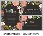 invitation and universal card... | Shutterstock .eps vector #1078846091