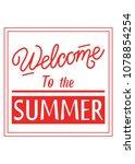 typography slogan welcome to... | Shutterstock .eps vector #1078854254