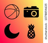 vector icon set about travel... | Shutterstock .eps vector #1078854635