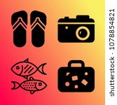 vector icon set about travel... | Shutterstock .eps vector #1078854821