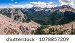 Panoramic view of Rocky mountains range in Jasper NP, Alberta, Canada