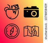 vector icon set about travel... | Shutterstock .eps vector #1078858409