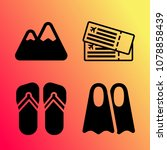vector icon set about travel... | Shutterstock .eps vector #1078858439