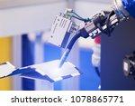 automatic welding robot in a... | Shutterstock . vector #1078865771