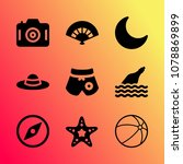 vector icon set about travel...   Shutterstock .eps vector #1078869899