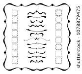 black dividers  frames and... | Shutterstock .eps vector #1078879475