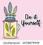 do it youself cartoons concept | Shutterstock .eps vector #1078879949